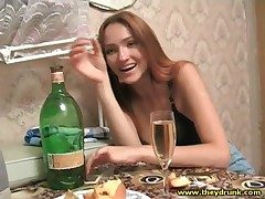 Drunk young Russian handsomeness in outrageous bra