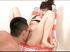 Hairy Japanese pussy squirts wide hot mistiness