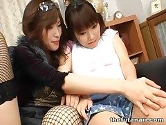 Explicit round fishnets makes out of doors with Japanese dickgirl