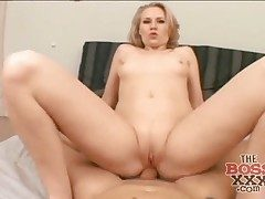 Point of view anal romp with a wild big ass blonde